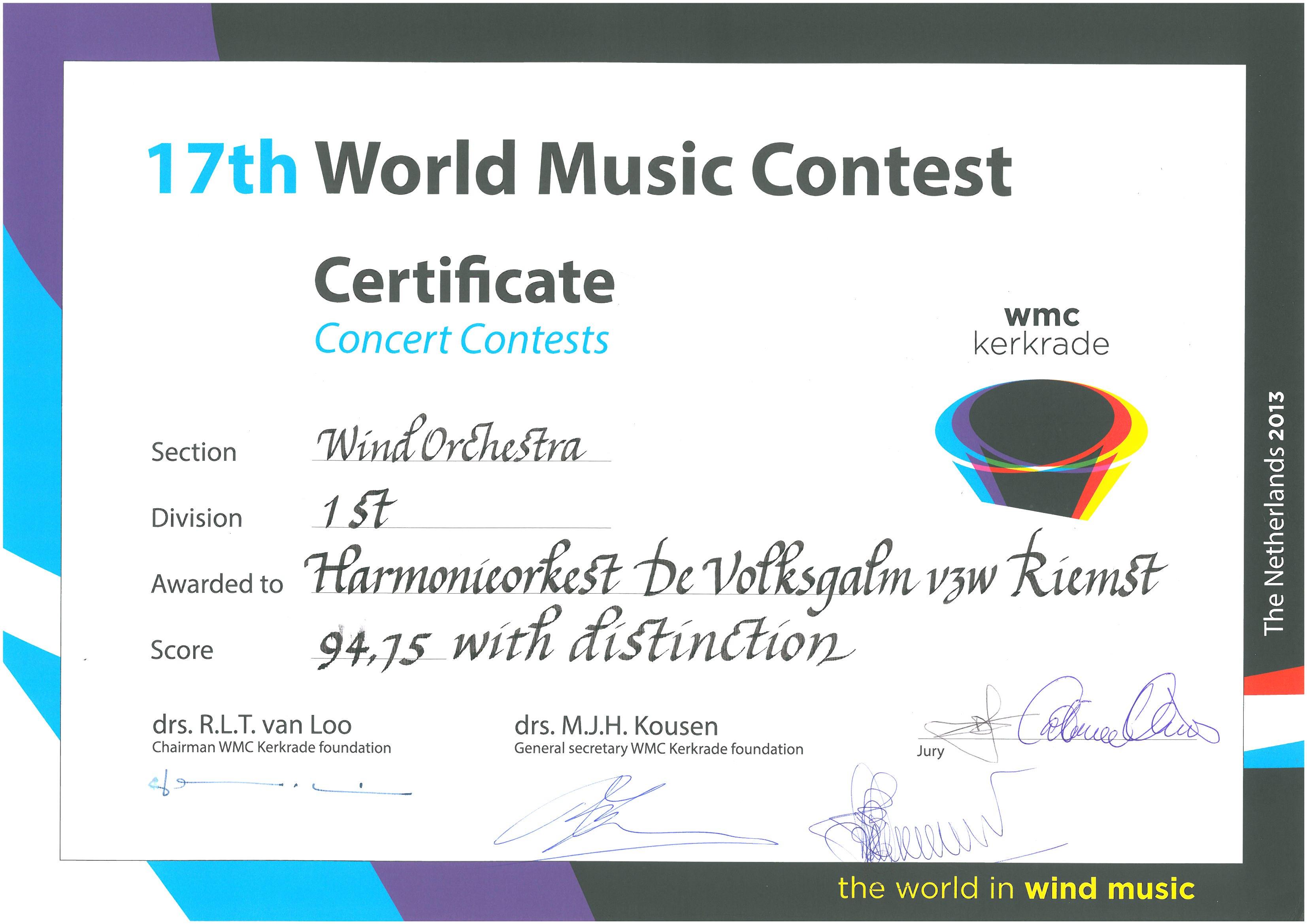 WMC diploma