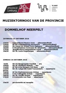 programma muziektornooi provincie 2016