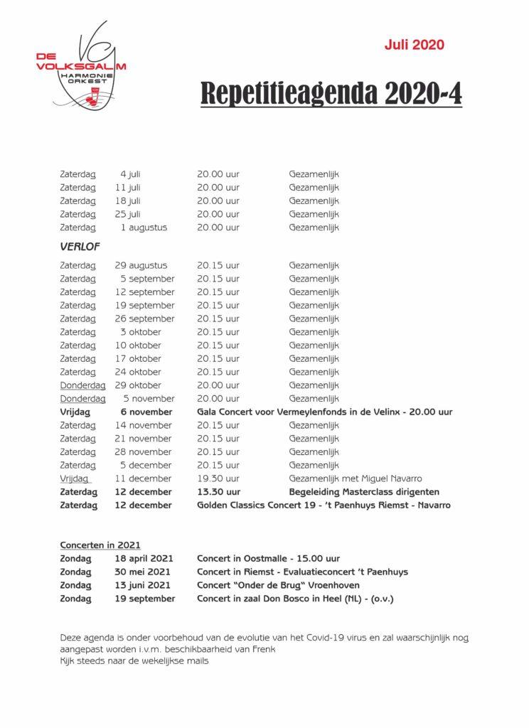Repetitieagenda 06-2020