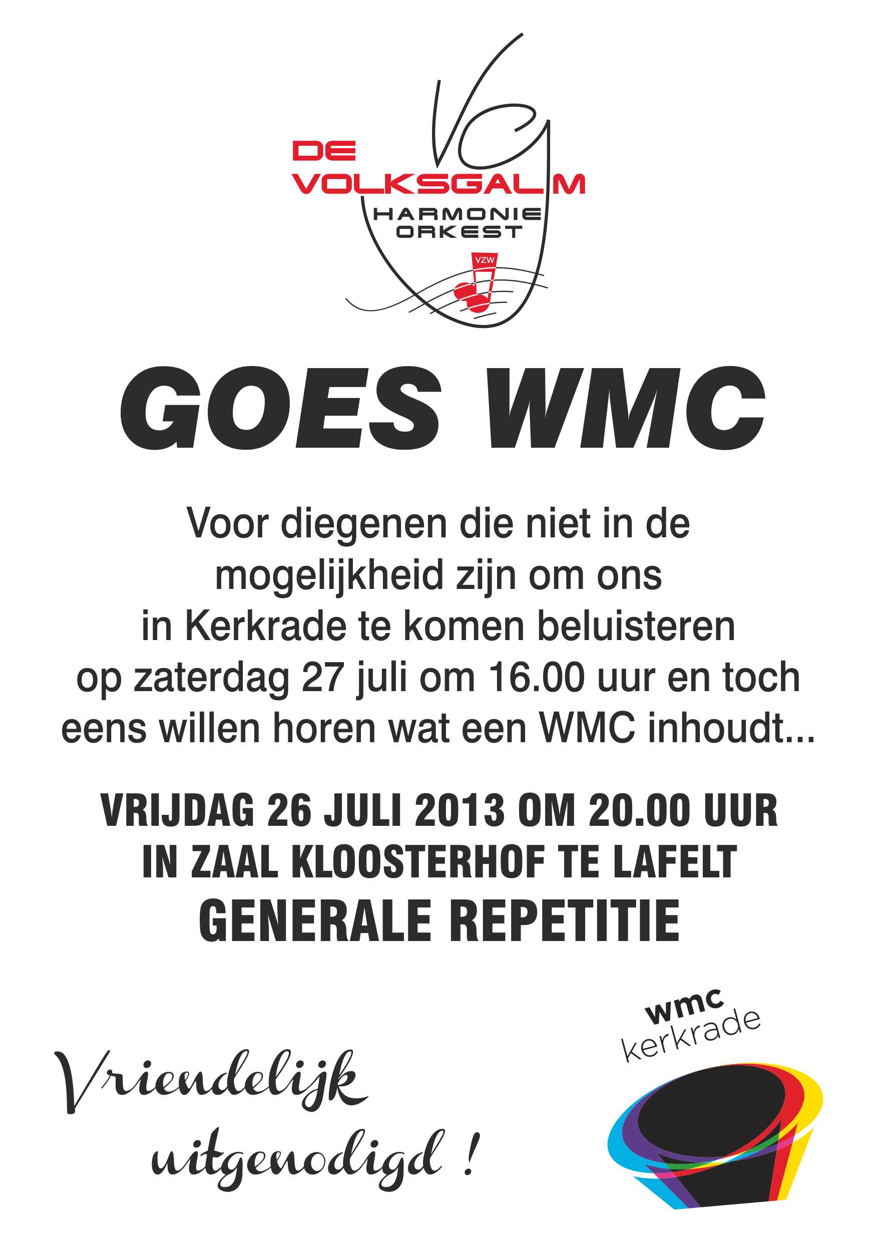 WMC generale repetitie